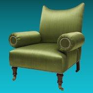 Upholstered Arm Chair in the Regency Taste