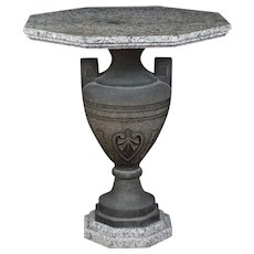 19th Century Carved Two Color Granite Table