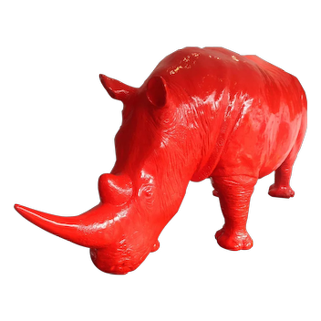 Life Size Fiberglass Rhinoceros