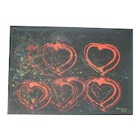 Love: Acrylic painting by Jean Pierre HUSER, 1992