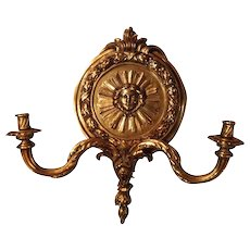 Cast bronze Pair of Sconces