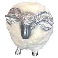 Cream and silver little sheep in the manner of Lalanne