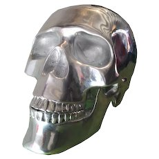 Aluminium Skull Sculpture  High 34 cm