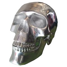 Aluminium Skull Sculpture  High 40 cm
