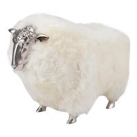 Sheep Stools with white wool in the manner of Claude Lalanne