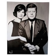 Painting  of Hayo Sol    :    John & Jackie, the presidential silver edition