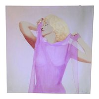 Painting  of Hayo Sol    :  Monroe Sixties Pink Edition