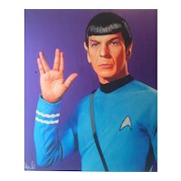 Painting  of Hayo Sol    :  Dr Spock The intergalactic Edition Purple