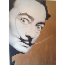 Painting  of Hayo Sol    :   Dali , the Kitsch Moustache gold edition