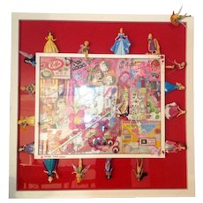 Don't grow up it's a trap: Fairy Tale  collage and painting pop art by Raph
