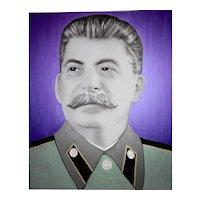 Painting  of Hayo Sol    :   Staline purple  edition