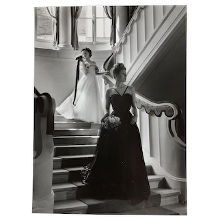 Photography Fashion Christian Dior  1950 By Willy Maywald