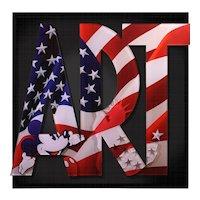 """Art 90 """"Union Stars""""  105X105cm"""