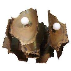 Brutalist 7 Light Pendant / Chandelier by Tom Greene