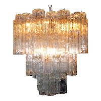 Murano Glass Tronchi Pendant Chandelier by Venini