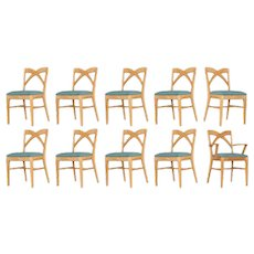 Paul Frankl Dining Chairs for Brown Saltman, Set of Ten