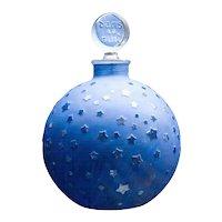 """Large Lalique """"Stars"""" Dans la Nuit Post-War Perfume Bottle"""