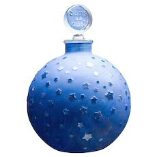 "Large Lalique ""Stars"" Dans la Nuit Post-War Perfume Bottle"