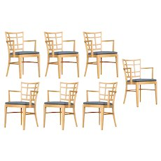 Paul Frankl for Brown Saltman Dining Chair, Set of 7