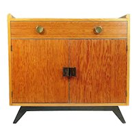 Paul Frankl Combed Wood Cabinet for Brown Saltman