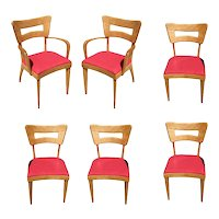 "Heywood Wakefield M154 ""DogBone"" Dining Chairs, Set of Six"