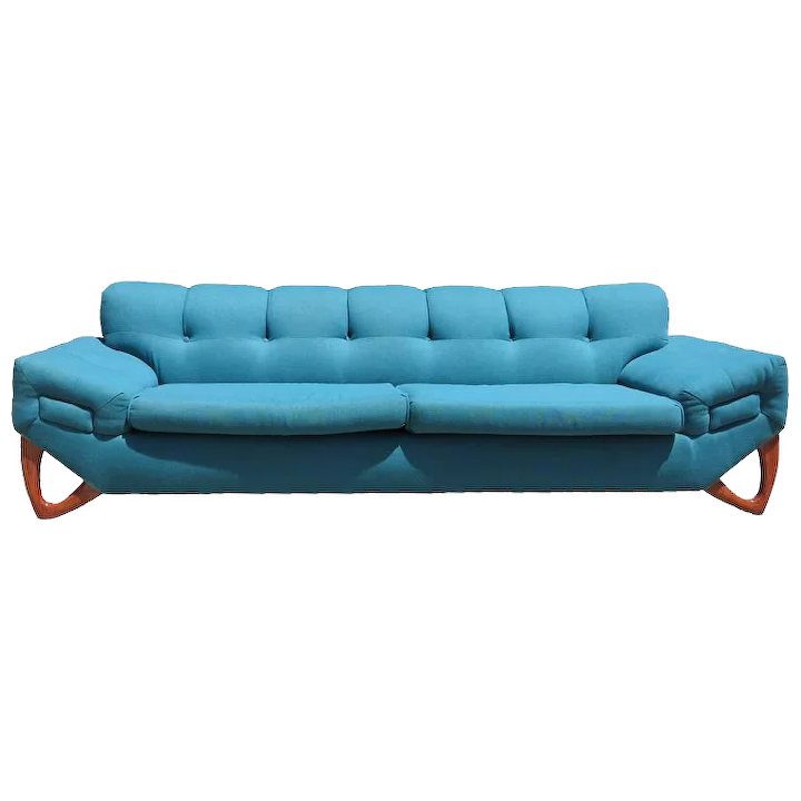 Mid Century Modern Sofa In The Manner Of Adrian Pearsall