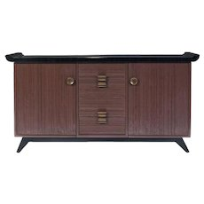 Paul Frankl Combed Wood Buffet / Credenza for Brown Saltman