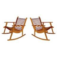 Michael Van Beuren Easy Rocking Chair Pair for Domus