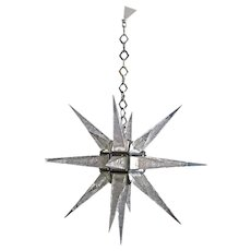Large C.J. Weinstein Style Art Deco Star Chandelier