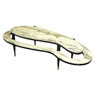 Mid-Century Modern Two-Tier Biomorphic Cocktail Table