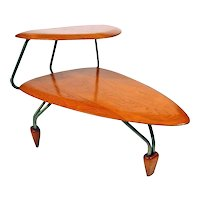 John Keal Surfboard Side Table for Brown Saltman