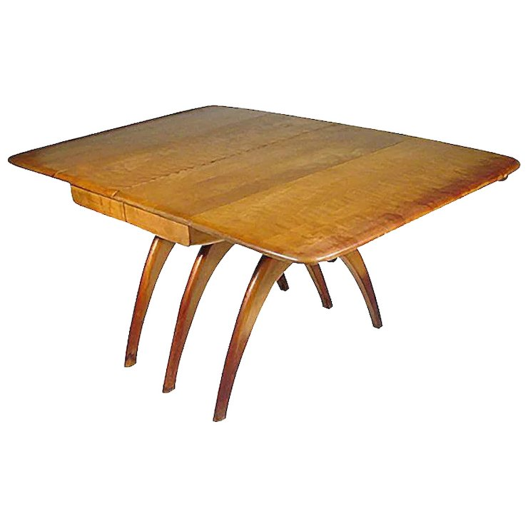 Charmant Heywood Wakefield Butterfly Drop Leaf Wishbone Dining Table
