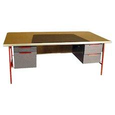 1958 Gordon Bunshaft Executive Desk with Matching Credenza