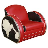 Art Deco Style Jazz Club Chair in the Manner of Donald Deskey
