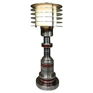 Art Deco Style / Machine Age Table Lamp by Walter Von Nessen
