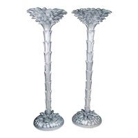 Pair of French Torchere Floor Lamps in the Manner of Serge Roche