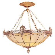 Art Deco Inspired Liberty Chandelier