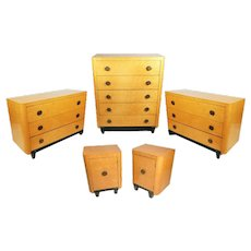 Art Deco Bedroom Set in Birdseye Maple