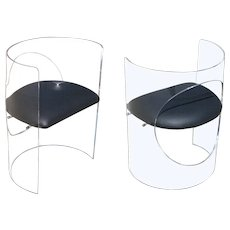 Charles Hollis Jones Lucite Chairs