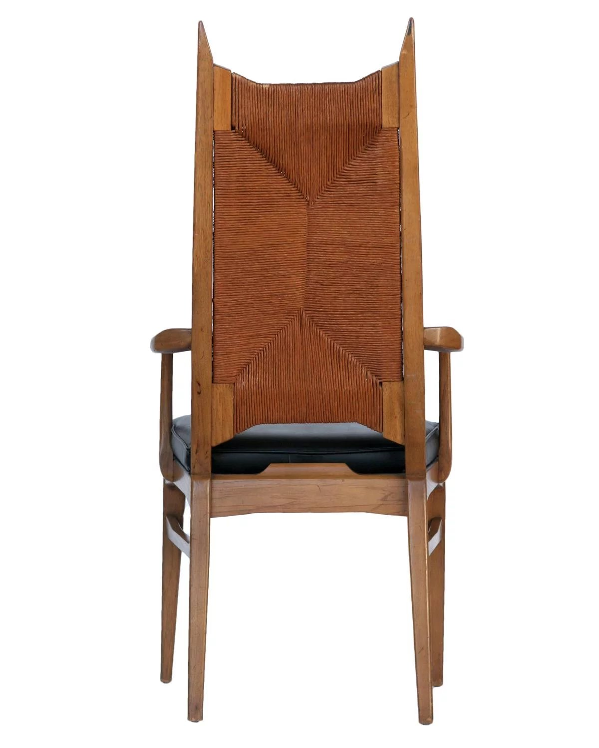 Set of 6 High Back Cathedral Danish Modern Dining Chairs ...