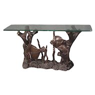 Aquatically Themed Bronze Console Table Base by Mimi London