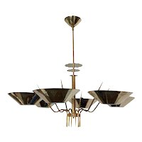 Custom Six Arm Austrian Chandelier, Circa 1950