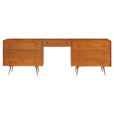 Paul McCobb Pair of Dressers w/ Removable Cantilevered Vanity