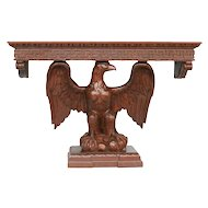American Neoclassical Hand Carved Eagle Console Table