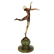 Bronze Ballet Russes Dancer Statuette by Stefan Dakon