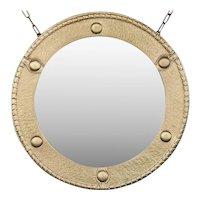 Antique Brass Federal Round Wall Mirror