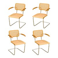 "Marcel Breuer """"Cesca"""" Chairs, Set of Four"