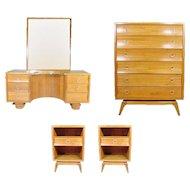 Paul Frankl Four Piece Bedroom Set for Brown Saltman