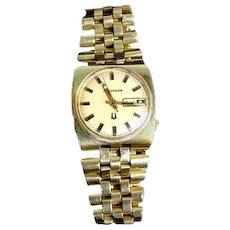 1960s 18K Bulova Accutron 77081 Wrist Watch