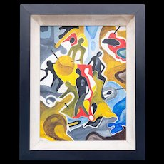 Exuberant Abstract Painting On Canvas